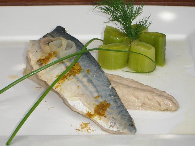 Filet de maquereau marin au vin blanc et ras el hanout for Cuisine 0 la plancha