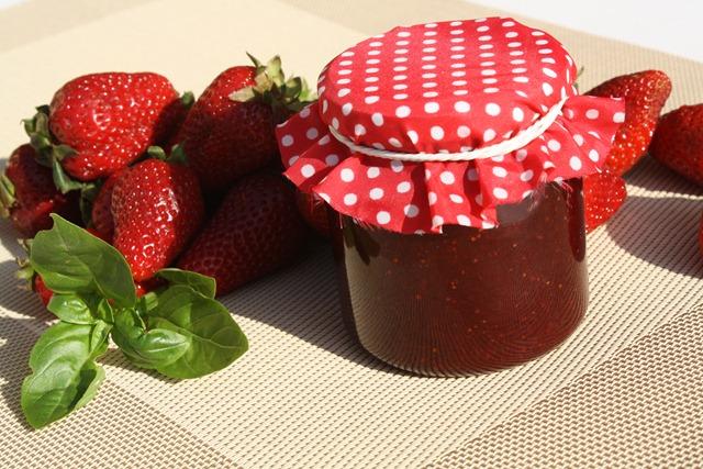 confiture de fraise basilic