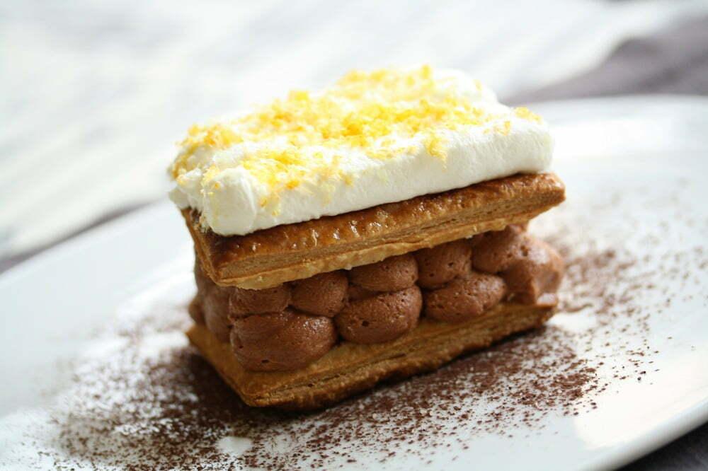 mille feuille chocolat caramel